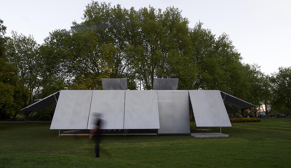 MPavilion 2014 by Sean Godsell. Photograph by Earl Carter.