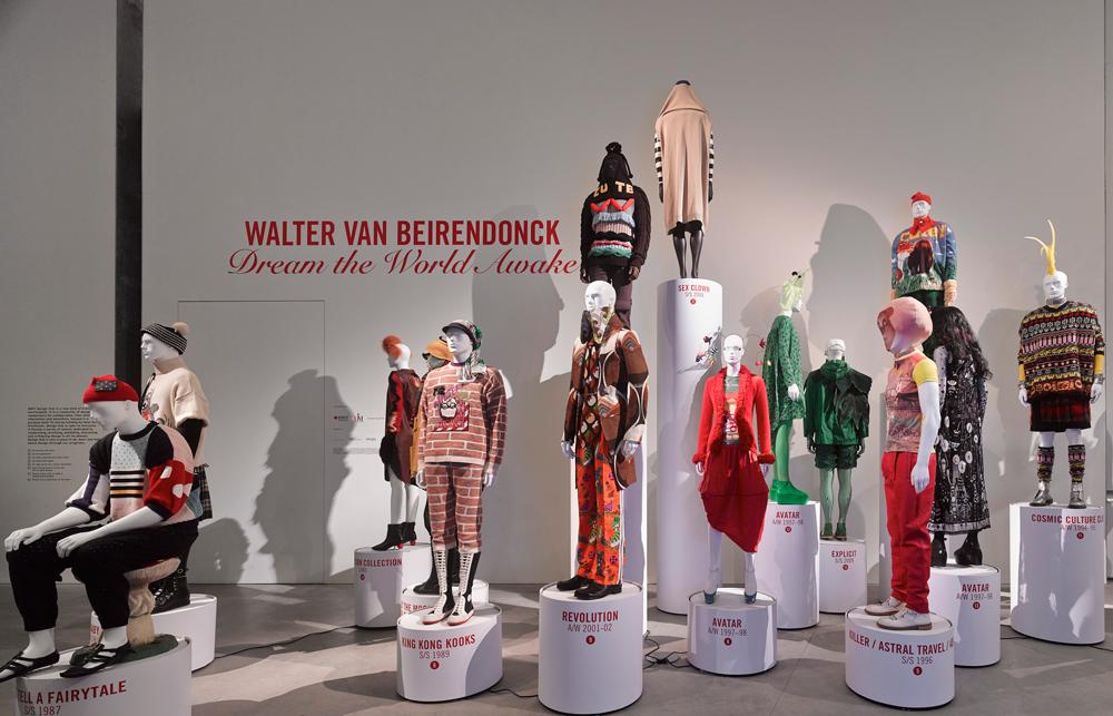 Walter Van Beirendonck - Dream the World Awake exhibition detail, RMIT Design Hub, 2013. Photo by Peter Bennett.